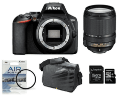 Nikon DSLR fotoaparat D3500 + 18-140VR + Fatbox 32GB + UV filter