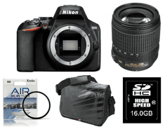 Nikon DSLR fotoaparat D3500 + 18-105VR + Fatbox 16GB + UV filter