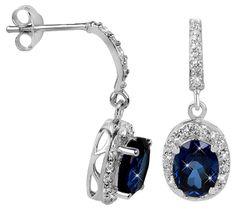 Brilio Silver Překrásné náušnice pro ženy 436 154 00235 04 - modré - 2,76 g stříbro 925/1000