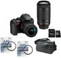 1 - Nikon DSLR fotoaparat D3500 + AF-P 18-55VR + AF-P 70-300VR + Fatbox 32GB + UV filtra