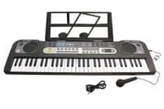 Unikatoy piano z mikrofonom z zaslonom MQ BAT.ŠK. 25035, 61 tipk