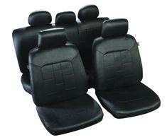 MAMMOOTH Potahy na sedadla Salvador, kombinace přední a zadní, materiál: polyester, barva: černá