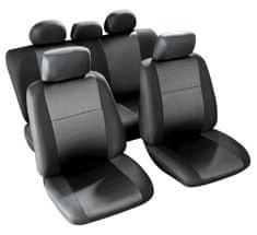 MAMMOOTH Potahy na sedadla Morillon, kombinace přední a zadní, materiál: polyester, barva: černá