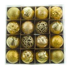 Seizis Set 16 koulí, zlaté mix, 6 cm