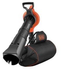 Black+Decker električni vrtni sesalnik/pihalnik/drobilec 3v1 + grablje