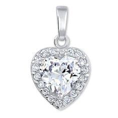 Brilio Silver Gyönyörű medál Szív 446 154 04 00 176 - átlátszó - 1,40 g ezüst 925/1000