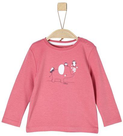 s.Oliver Dívčí tričko s potiskem 50/56 ružová
