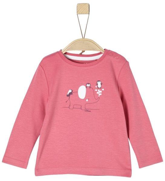 s.Oliver Dívčí tričko s potiskem 68 růžová