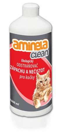 Aminela Ekologiczne usuwanie zapachów dla kotów 1000 ml