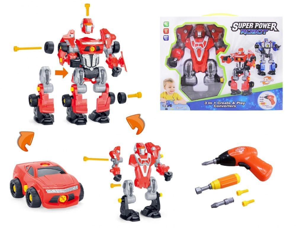 Alltoys Šroubovací robot s vrtačkou - červený