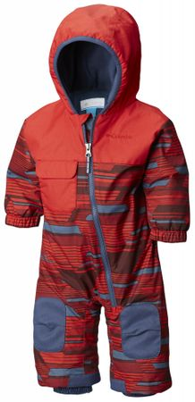 Columbia Hot-Tot Suit Red Spark Geo Print 18/24