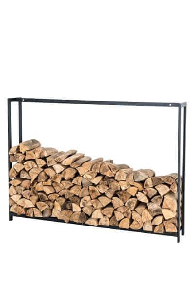 BHM Germany Stojan na dřevo Skog, 100x145 cm, matná černá