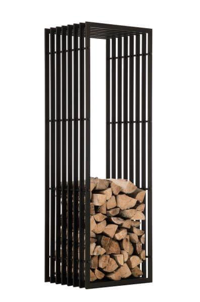 BHM Germany Stojan na dřevo John, 150 cm, matná černá