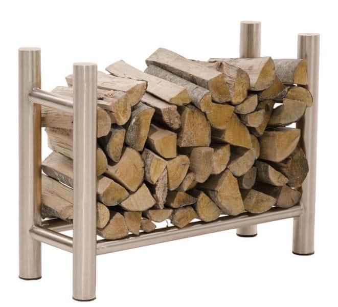 BHM Germany Stojan na dřevo Medea, 80x80 cm, nerez