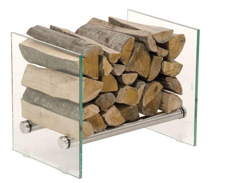 BHM Germany Stojan na dřevo Gunar, 50x40 cm, čiré sklo