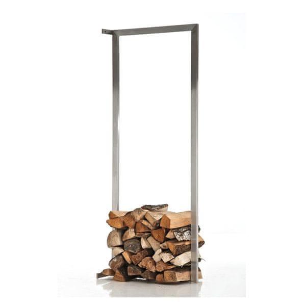 BHM Germany Stojan na dřevo nástěnný Muren, 80x100 cm, nerez