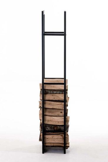 BHM Germany Stojan na dřevo Karin, 40x150 cm, černá