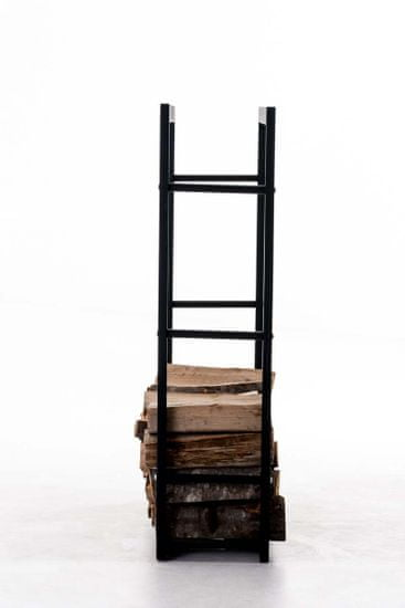BHM Germany Stojan na dřevo Karin, 60x100 cm, černá