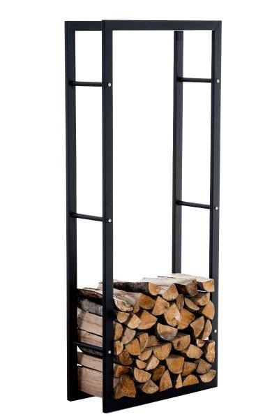 BHM Germany Stojan na dřevo Karin, 60x150 cm, matná černá