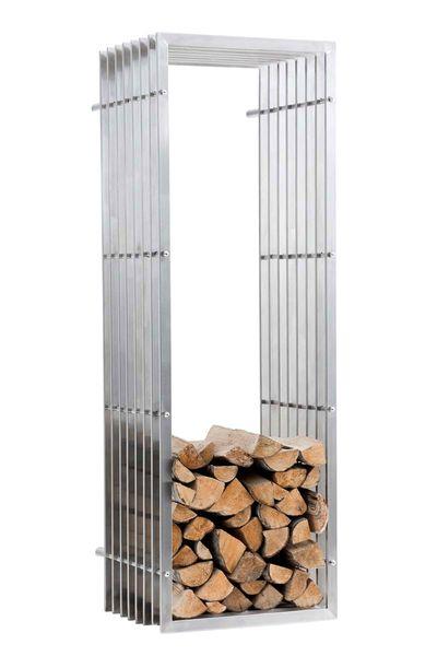 BHM Germany Stojan na dřevo nástěnný John, 150 cm, nerez