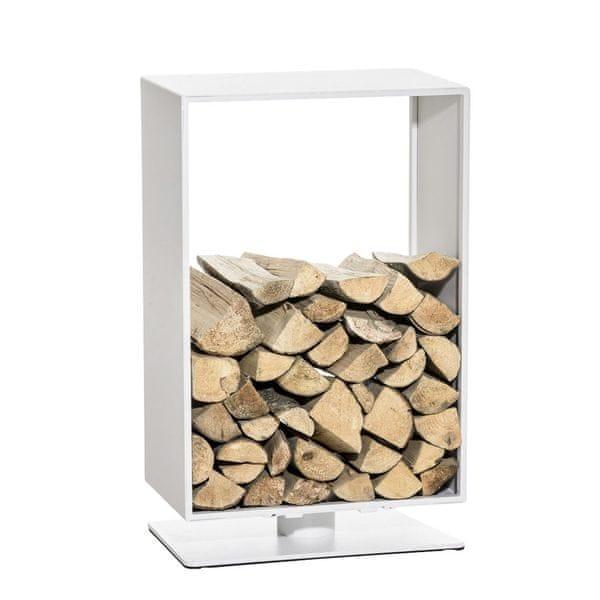 BHM Germany Stojan na dřevo Roma, 50x60 cm, matná bílá