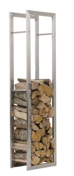 BHM Germany Stojan na dřevo Karin, 40x150 cm, nerez