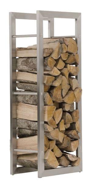 BHM Germany Stojan na dřevo Karin, 60x100 cm, nerez