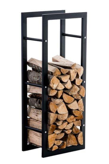 BHM Germany Stojan na dřevo Karin, 40x100 cm, černá