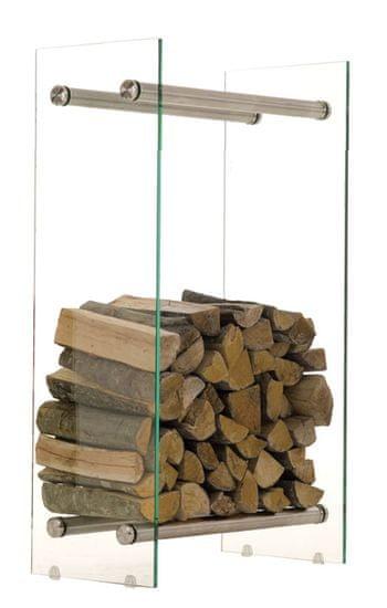 BHM Germany Stojan na dřevo Malin, 60x80 cm, čiré sklo