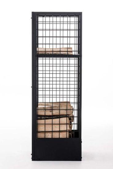 BHM Germany Stojan na dřevo Skove, 40x120 cm, černá