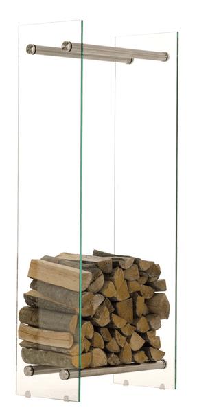 BHM Germany Stojan na dřevo Malin, 40x150 cm, čiré sklo