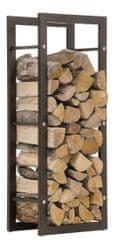 BHM Germany Stojan na dřevo Karin, 40x150 cm, matná černá