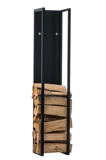 BHM Germany Stojan na dřevo Gnister, 100 cm, matná černá