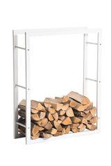 BHM Germany Stojan na dřevo Karin, 80x100 cm, matná bílá
