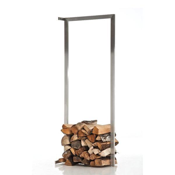 BHM Germany Stojan na dřevo nástěnný Muren, 60x100 cm, nerez
