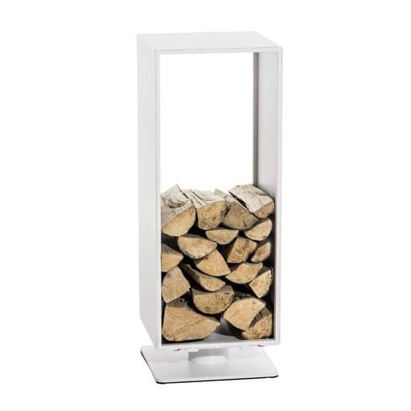 BHM Germany Stojan na dřevo Roma, 30x60 cm, matná bílá