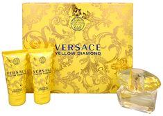 Versace Yellow Diamond - woda toaletowa 50 ml + mleczko do ciała 50 ml + żel pod prysznic 50 ml