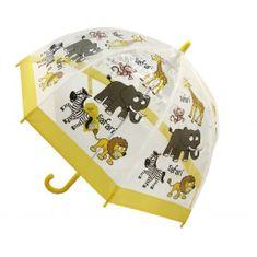 Blooming Brollies Dětský průhledný holový deštník Buggz Kids Stuff Safari BUSAF