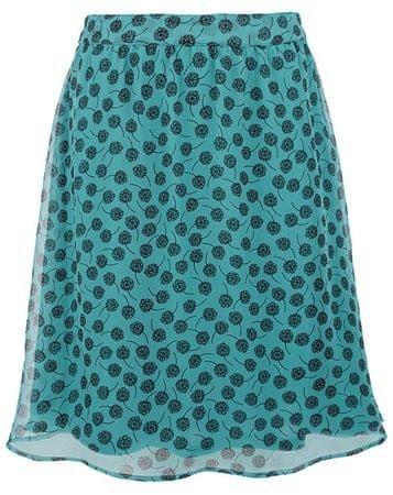 s.Oliver Dámska tyrkysová šifónová sukňa (Veľkosť 38)