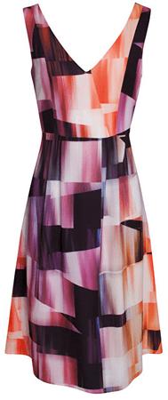 Smashed Lemon Dámske krátke šaty Orange 17283/19 (Veľkosť S)