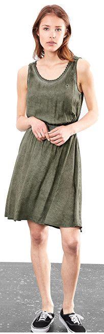 24265269ebf5 ... 2 - Q S designed by Dámske krátke zelené šaty (Veľkosť 40) ...