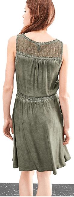 481f25906f5c ... 4 - Q S designed by Dámske krátke zelené šaty (Veľkosť 36) ...