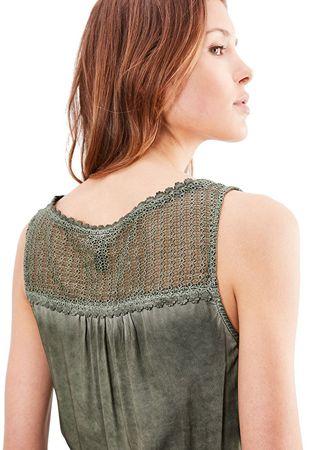 d89c252095dc Q S designed by Dámske krátke zelené šaty (Veľkosť 40)