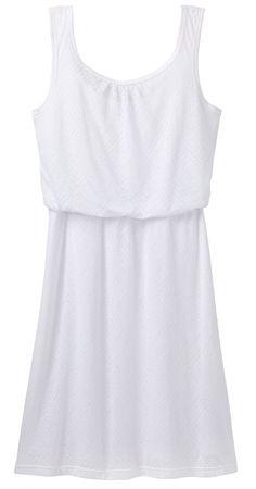 Prana Dámské šaty Mika Dress White Copa (Velikost L)  2383ae2fe20