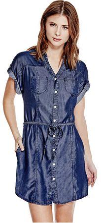 Guess Női ruha Maren Chambray Shirtdress (méret S)