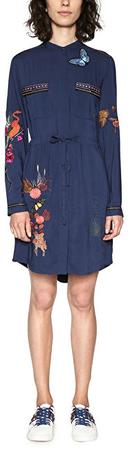 Desigual Dámske šaty Vest Jazmin 18SWVW75 5000 (Veľkosť 36)