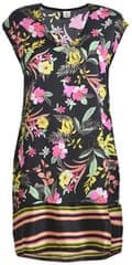 Deha Printed Viscose női ruha D73512 Nero/Giallo/Fux/Aqua