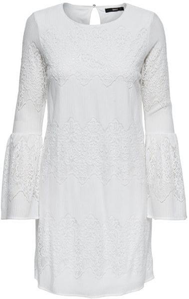 ONLY Dámské šaty Bella New Lace L S Dress Wvn Cloud Dancer (Velikost 40 f21b112e91