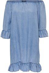 c6955c0dd8 ONLY Női ruha Seco Lightblue Shoulder Dnm Dress Noos Light Blue Denim