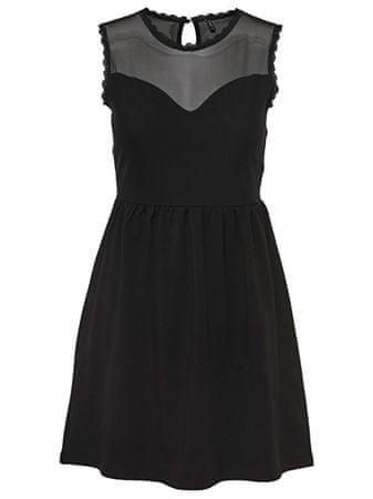 ONLY Dámske šaty Nielli Mesh Sl Dress Jrs Black (Veľkosť S)